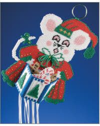 Free Plastic Canvas Magnet Patterns | Everything Plastic Canvas - Waiting on Santa Windsock