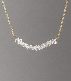 Handmade Jewelry Herkimer Diamond Gold Fill Necklace also in Sterling Silver and…