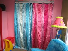Love the idea of curtains for closet doors, I'm gonna do this in both the kids' rooms. :)