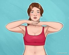 10 Easy Exercises For Beautiful Arms and Tight Breasts.The French television presenter and author of the bestseller, Camille Volaire,developed a set of exercises for beautiful breasts, Total Ab Workout, Total Abs, Chest Muscles, Back Muscles, Effective Ab Workouts, Easy Workouts, Breast Muscle, Tv Star, Musa Fitness