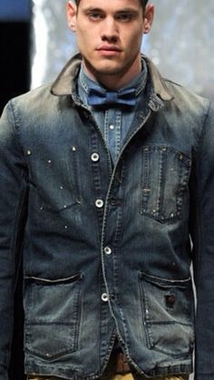 Denim and a Bow Tie...yes!