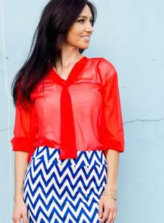 Coral Quarter Length Sleeve Top w/ Tie Front #ustrendy #coral #chic #spring #preppy