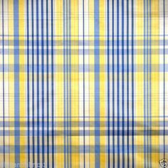 SCALAMANDRE-LE-CIRQUE-MOIRED-PLAID-UPHOLSTERY-FABRIC-5-YARDS-YELLOW-BLUE