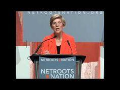Elizabeth Warren giving an uplifting speech, 2014. Will she run for President in 2016?