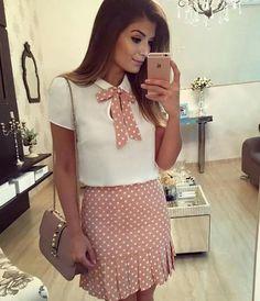 {Do dia} Look todo Skirt Outfits, Dress Skirt, Cool Outfits, Casual Outfits, Fashion Outfits, Womens Fashion, Office Outfits, Dress To Impress, Casual Looks