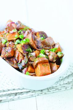 PaleOMG – Paleo Recipes – Bacon Lime Sweet Potato Salad - take out the red chili flakes and it's AIP Paleo Sweet Potato, Salad With Sweet Potato, Potato Salad, Bacon Salad, Bacon Avocado, Paleo Recipes, Whole Food Recipes, Cooking Recipes, Potato Recipes