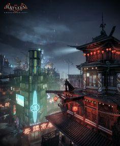 ArtStation - Batman Arkham Knight - Chinatown, Mark Ranson
