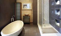 Determine the placement of the bathroom plumbing fixtures