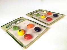 Vintage 50s Fruit Novelty Buttons Set of 11 by iandrummondstash