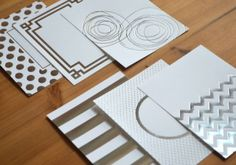 Silver Luxe Foil Patterned Paper Collection (24 sheets)  $10