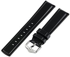 Hirsch 404788-50-20 20 -mm  Caoutchouc Watch Strap ** Read more reviews of the product by visiting the link on the image.