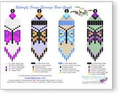 Make your own Monarch Butterfly Fringe Earring! The Pattern is a 4 page, full…