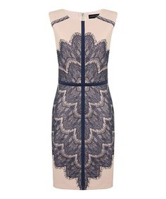 Loving this Nude & Navy Crystal Dress on #zulily! #zulilyfinds