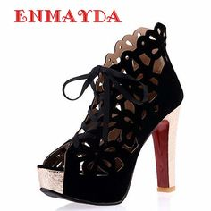 Cheap shoes retro, Buy Quality shoes white pumps directly from China shoes platform pumps Suppliers:      ENMAYDA Sandals Women New Hot Sexy Women Sandals for Lady Shoes Summer Sandals Heels Sandals 34- 45 Women Sum