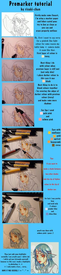 promarkers tutorial- mermaid by ~risaki-chan on deviantART
