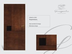 handmade wooden door_code: La paz / by Georgiadis furnitures #handmade #wooden #door #marqueterie