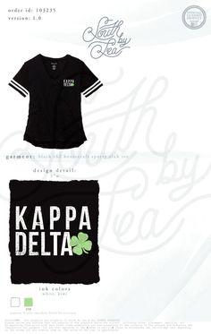 Kappa Delta | KD | Shamrock | Sporty Slub Tee | South by Sea | Greek Tee Shirts | Greek Tank Tops | Custom Apparel Design | Custom Greek Apparel | Sorority Tee Shirts | Sorority Tanks | Sorority Shirt Designs Sorority Shirt Designs, Sorority Shirts, Sorority Life, Custom Clothing Design, Custom Clothes, Kappa Delta, Phi Mu, Alpha Phi, Greek Shirts