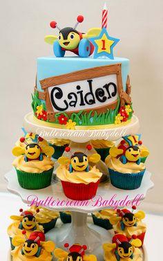 Buzy Bee Birthday Cake by Buttercream Babydoll, via Flickr