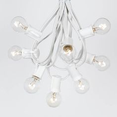 25 Foot G30 Outdoor Lighting Patio Globe String Lights, Clear, White Wire, 25 Bulbs Novelty Lights http://www.amazon.com/dp/B008PE8S0C/ref=cm_sw_r_pi_dp_iImAub1PQSXJS