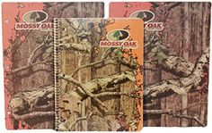 nice Hunting Camouflage Style Welcome Back to School & Office Three (3) Item Value Pack Bundle: One 80 Ct Camouflage Style Notebook & 2 Camo 3-hole Pocket Folders (Orange Mossy Oak)