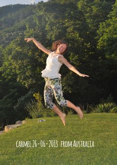 Carmel 26-06-2013 from Australia jump for Forestaria organic farm in Lucca, tuscany