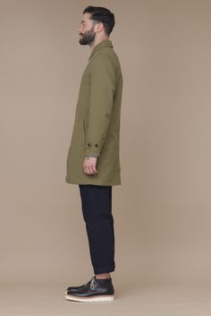 Saturdays Surf NYC Maurice Trench Coat (Olive)