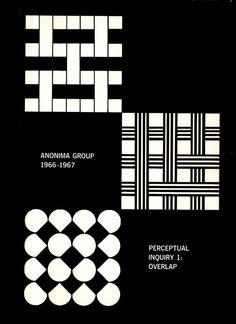 Anonima GroupPerceptual Inquiry 1: OverlapCatalog for 1964 Exhibition at Anonima GalleryCover