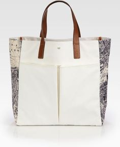 Anya Hindmarch Beige London Nevis Canvas Tote