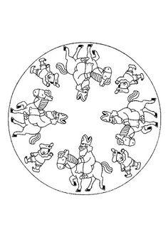 Mandala Sinterklaas kleurplaat