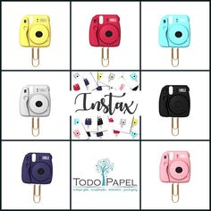 Instax Camera Planner Paper Clips. 7 Colors Novelty Magnets