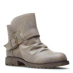 this is different shade of gray! another alternative from the typical black, leather boot. i love ankle boots!