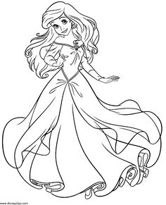 Ariel coloring page  Ariel  Pinterest  Coloring Ariel and