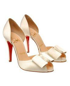 Loubiton peep toe wedding day shoes