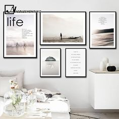 Nordic Style Motivational Posters and Prints Life Quote Wall Art Canvas Painting Wall Picture for Living Room Modern Home Decor Modern Wall Decor, Living Room Modern, Living Room Designs, Wall Decor Pictures, Living Room Pictures, Wall Art Quotes, Quote Wall, Canvas Quotes, Images Murales