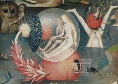 Jérôme Bosch, Le Jardin des délices, vers 1503. Panneau central : L'Humanité avant le déluge (détail). Madrid, Museo Nacional del Prado