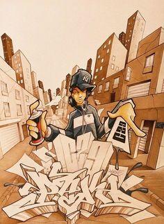 Lots of cool elements. Graffiti Piece, Graffiti Wall Art, Graffiti Wallpaper, Street Art Graffiti, Graffiti Cartoons, Graffiti Characters, Arte Hip Hop, Hip Hop Art, Graffiti Wildstyle