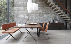 MORE MOEBEL table, banc et chaises collection LAX
