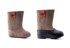 Rusia botas hechas a mano de fieltro para niños