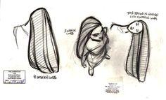 Preproduction Sketches (Aurora, Anastasia, Chel, and Pocahontas) - Disney…
