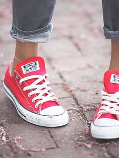 classic red converse. (i like the classic red too or is it pink