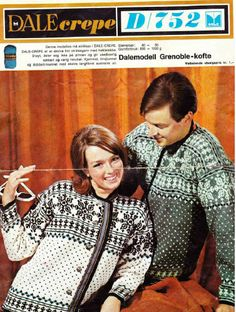 Dale Grenoble 752 Norwegian Knitting, Color Combinations, Norway, Knitting Patterns, Crochet, Sweaters, Cakes, Colour, Classic
