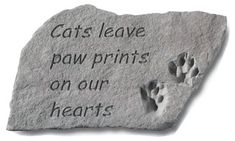 Design Toscano Cat Paw Prints Cast Stone Memorial Statue Large * Click image for more details.