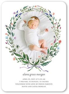 The birth of a beautiful baby girl is a blessing, and it's a milestone that deserves to be celebrated in a one-of-a-kind way. Introduce the precious new arrival to your loved ones with girl birth announcements from Tiny Prints. Baby Girl Birth Announcement, Birth Announcement Photos, New Baby Announcements, Baby Posters, Tiny Prints, Baby Birth, Baby Cards, New Baby Products, Parents