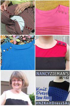 Knit Dress Sew Along Photo Collage | Nancy Zieman