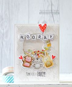 Such an ADORABLE shaker by Yoonsun Hur using Simon Says Stamp Exclusives.
