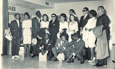 """The Jamaican delegation to the '64 World's Fair in New York City: JIMMY CLIFF, ERIC """"MONTY"""" MORRIS, ALPHONSO CASTRO, PRINCE BUSTER, LINDA JACK, ROY WILLIS, SONIA BLAKE, BYRON LEE, JANET PHILLIPS, CAROL CRAWFORD, RONNIE NASRALA, BEVERLEY NEATH and KEN KHOURI."""