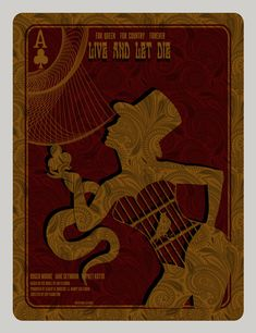 Live and Let Die alternative silkscreen movie poster