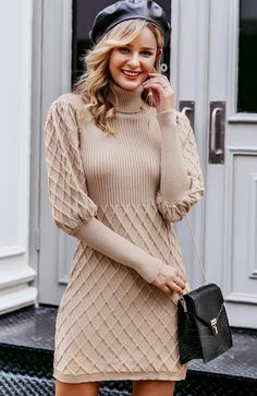 Cable Knit Sweater Dress, Sweater And Shorts, Cable Knit Sweaters, Knit Dress, Pullover Sweaters, Turtleneck Dress, Jumper Dress, Robes Vintage, Vintage Dresses