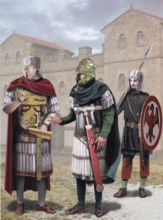 Late Roman Officers, fourth-fifth centuries AD.