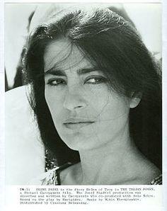 Irene Pappas portrays the beautiful widow & the love interest of Alan Bates as Basil in 'Zorba The Greek', Marlon Brando, Irene Papas, Alan Bates, Ali Mcgraw, Greek Tragedy, Portraits, Weird World, Movie Stars, Actors & Actresses